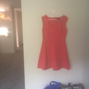 A-line flowy fitted v neck Red night out dress!!